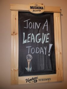 League sign